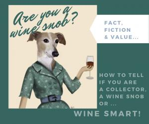 'Five Ways To Tell If You're Wine Smart or a Wine Snob' graphic of a dog drinking wine at a Tahoe Private Party